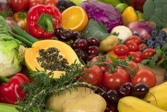 Vegetais e frutas Fotografia de Stock Royalty Free