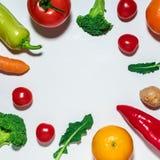 Vegetais e frutas Assorted Fotografia de Stock