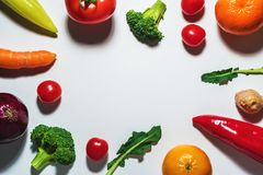Vegetais e frutas Assorted Imagens de Stock Royalty Free