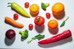 Vegetais e frutas Assorted Foto de Stock Royalty Free