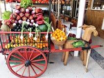 Vegetais e frutas orgânicos Imagens de Stock Royalty Free