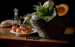 Vegetais e frutos estação italiana, outono Fotografia de Stock