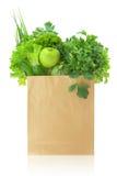 Vegetais e frutos verdes frescos Fotografia de Stock