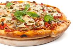 Vegetais e pizza do vegetariano dos cogumelos Fotografia de Stock Royalty Free
