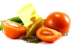 Vegetais e queijo Foto de Stock Royalty Free