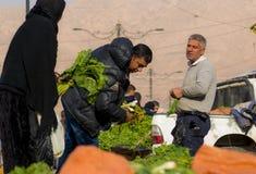 Vegetais e vendedor iraquianos das folhas Fotos de Stock