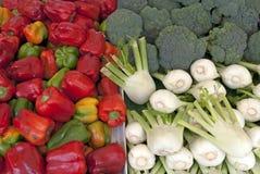Vegetais em um carrinho do mercado Imagem de Stock Royalty Free