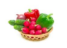 Vegetais em um fundo branco Fotografia de Stock Royalty Free