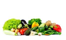 Vegetais em um fundo branco Foto de Stock Royalty Free