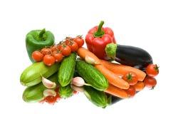 Vegetais em um fundo branco Imagens de Stock