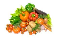 Vegetais em um fundo branco - vista de acima Fotografia de Stock Royalty Free