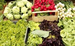 Vegetais em um mercado Foto de Stock