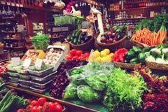 Vegetais em um mercado Imagens de Stock