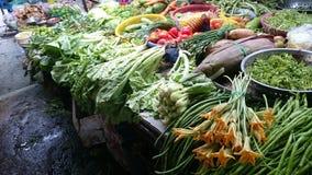 Vegetais em um mercado asiático Imagens de Stock Royalty Free