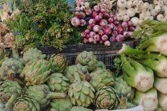 Vegetais em um mercado dos fazendeiros Foto de Stock Royalty Free