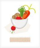 Vegetais em uma bacia A Fotografia de Stock Royalty Free