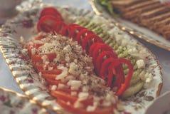 Vegetais em uma bandeja Foto de Stock Royalty Free