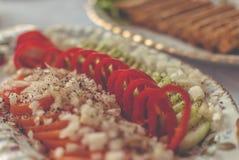 Vegetais em uma bandeja Fotografia de Stock Royalty Free