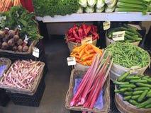 Vegetais em uma mercearia Fotografia de Stock