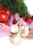 Vegetais em uma placa. Foto de Stock Royalty Free