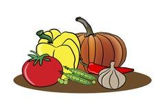 Vegetais em uma placa Imagem de Stock