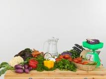 Vegetais em uma tabela Imagem de Stock Royalty Free