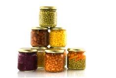 Vegetais enlatados Fotos de Stock Royalty Free