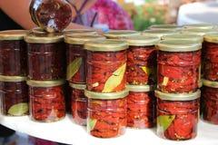 Vegetais enlatados Foto de Stock Royalty Free