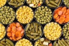 Vegetais enlatados Imagens de Stock Royalty Free