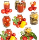 Vegetais enlatados misturados Imagens de Stock