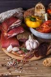 Vegetais espasmódicos e grelhados da carne Imagem de Stock Royalty Free