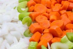 Vegetais frescos do corte prontos para cozinhar Fotografia de Stock