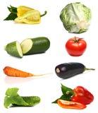 Vegetais frescos e das vitaminas Fotografia de Stock Royalty Free