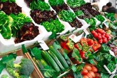 Vegetais frescos e orgânicos no mercado dos fazendeiros fotos de stock royalty free