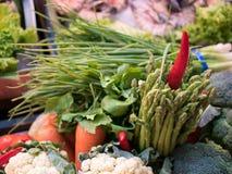 Vegetais frescos e variados da variedade Fotografia de Stock