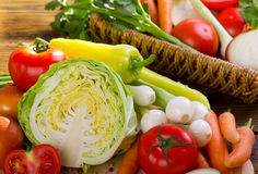 Vegetais frescos, orgânicos Foto de Stock Royalty Free