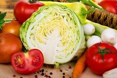 Vegetais frescos, orgânicos Fotos de Stock