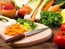 Vegetais frescos, orgânicos Fotografia de Stock