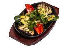 Vegetais fritados Imagens de Stock
