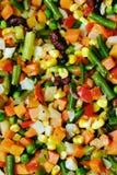 Vegetais fritados. Fotografia de Stock
