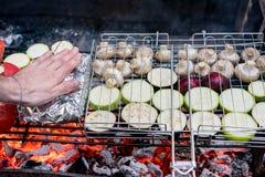 Vegetais fritados Foto de Stock