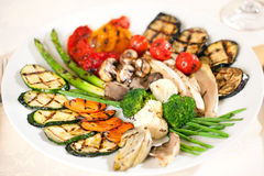 Vegetais fritados saborosos. Fotografia de Stock Royalty Free