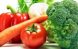Vegetais genuínos não tratados saudáveis crus Foto de Stock