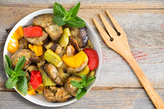 Vegetais grelhado e de Sauted Imagem de Stock Royalty Free