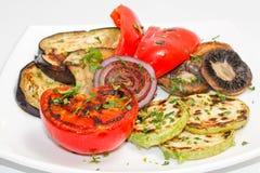 Vegetais grelhados Fotografia de Stock Royalty Free