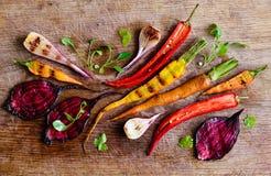 Vegetais grelhados Imagem de Stock