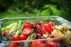 Vegetais grelhados Fotos de Stock Royalty Free