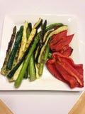 Vegetais grelhados Fotos de Stock