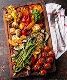 Vegetais grelhados Fotografia de Stock
