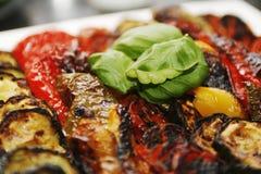 Vegetais grelhados Imagens de Stock